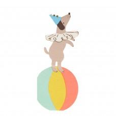 Cirkuszi kutya szalvéta (MeriMeri)