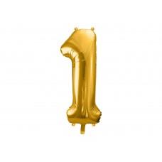 """""""1"""" szám fólialufi (arany)"""