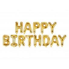"""""""Happy Birthday"""" fólialufi (arany)"""