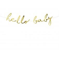 """""""Hello Baby"""" arany felirat"""