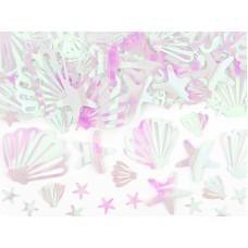 Kagylós asztali konfetti (irizáló)