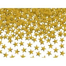Arany csillag asztali konfetti