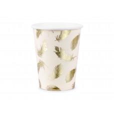 Arany madártollas pohár