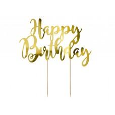 Happy Birthday tortadísz (arany)