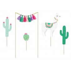 Kaktusz és Láma tortadísz