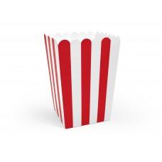 Popcorn doboz (piros-fehér)