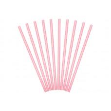 Rózsaszín szívószál