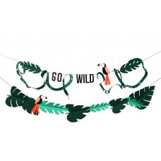 """Go Wild"" Dzsungel Girland (Meri Meri)"