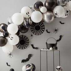 Halloween Lufifüzér denevérekkel, pókhálóval és szellemlufival