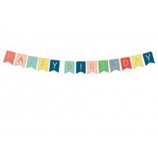 """""""Happy Birthday"""" szivárványos girland"""