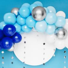 Kék-ezüst-fehér lufifelhő