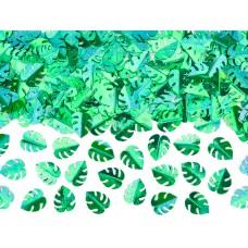 Zöld pálmalevél asztali konfetti