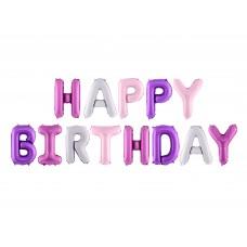 """Happy Birthday"" fólialufi (ombre)"
