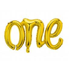 """""""One"""" fólialufi felirat arany"""