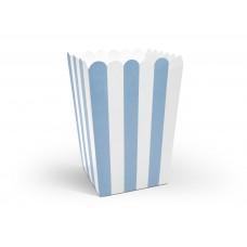 Popcorn doboz (kék csíkos)