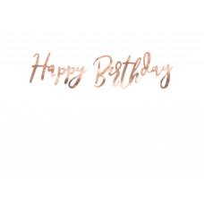 """Happy Birthday"" rose gold felirat"