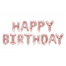 """Happy Birthday"" fólialufi (rose gold)"