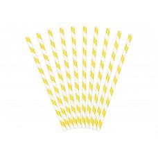 Sárga-fehér csíkos szívószál