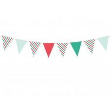 Zászló girland (piros-zöld-fehér)
